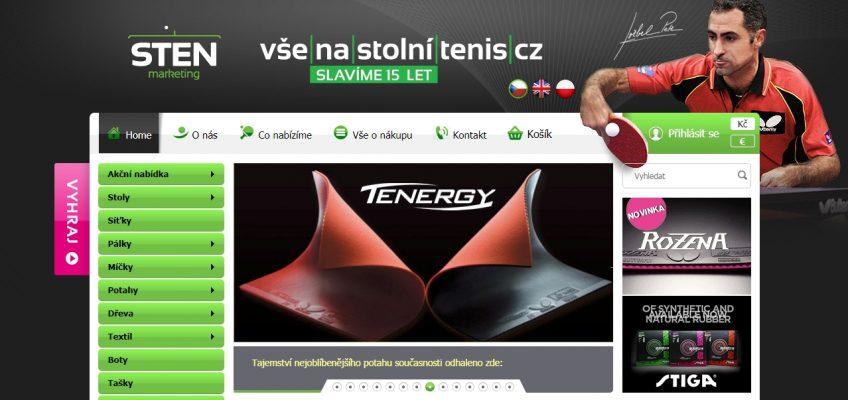 Nabídka na zajištění nákupu vybavení na stolní tenis